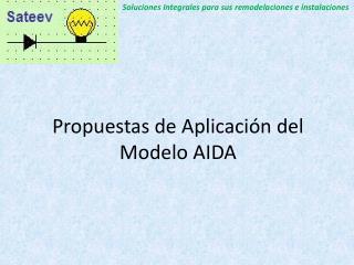 Propuestas de Aplicación del Modelo AIDA