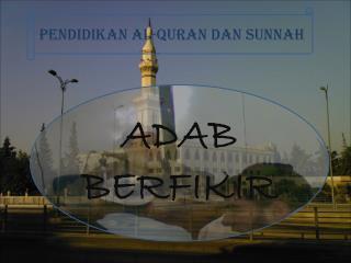 ADAB BERFIKIR