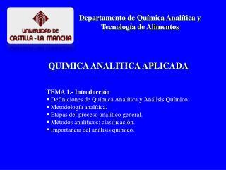 QUIMICA ANALITICA APLICADA