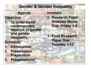Gender & Gender Inequality