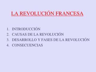 LA REVOLUCI N FRANCESA