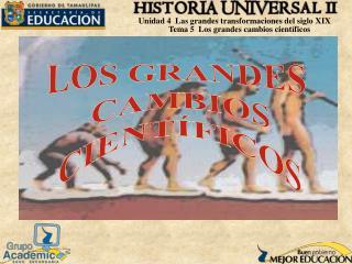 LOS GRANDES  CAMBIOS  CIENTÍFICOS