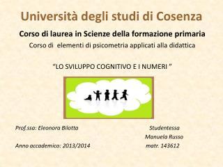 Universit� degli studi di Cosenza