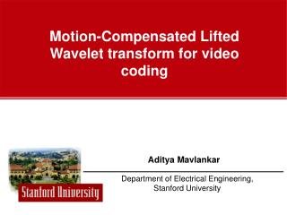 Motion-Compensated Lifted Wavelet transform for video coding