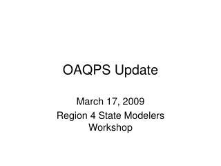 OAQPS Update