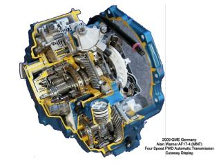 2009 GME Germany  Aisin Warner AF17-4 (MNF) Four Speed FWD Automatic Transmission Cutaway Display