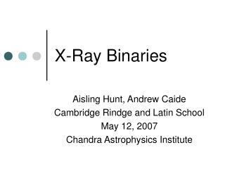 X-Ray Binaries