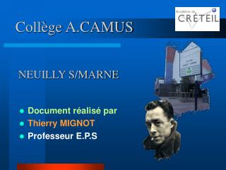 Collège A.CAMUS  NEUILLY S/MARNE