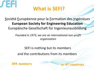What is SEFI?