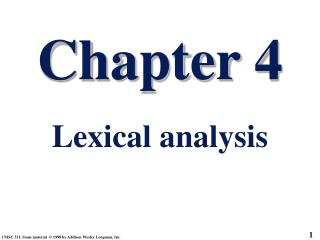 Chapter 4 Lexical analysis