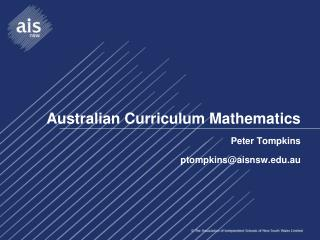 Australian Curriculum Mathematics