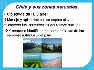 Chile y sus zonas naturales.