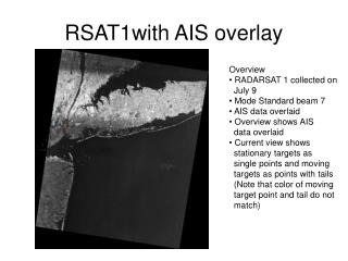 RSAT1with AIS overlay