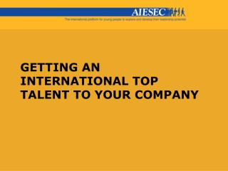 Getting an international top talent to your company