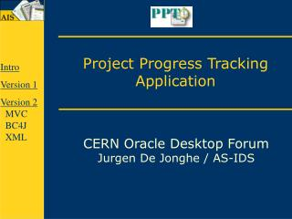 Project Progress Tracking Application