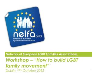 Workshop � �How to build LGBT family movement� Dublin,  20th  October 2012 info@nelfa
