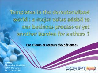Cas clients et retours d'expériences