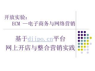 开放实验: ECM — 电子商务与网络营销