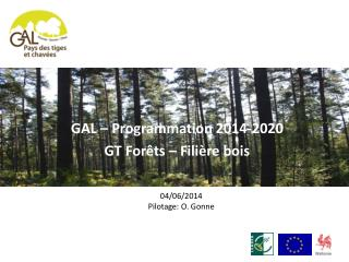 GAL � Programmation 2014-2020 GT For�ts � Fili�re bois