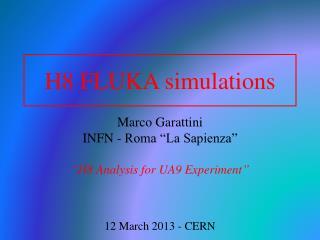 H8 FLUKA  simulations