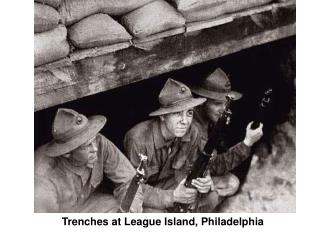 Trenches at League Island, Philadelphia