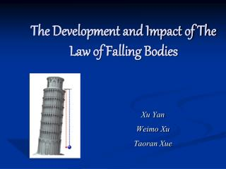 The Development and Impact of The Law of Falling Bodies