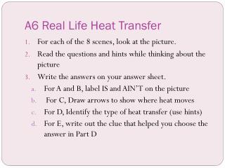 A6 Real Life Heat Transfer