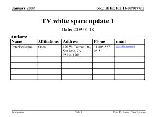 TV white space update 1