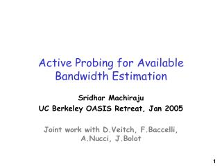 Active Probing for Available Bandwidth Estimation