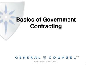 Basics of Government Contracting