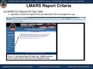 LMARS Report Criteria