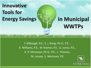 Innovative  Tools for Energy Savings