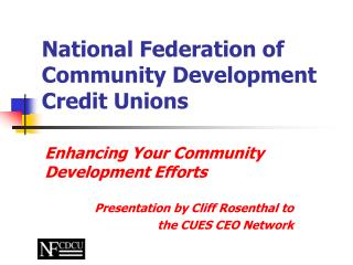 National Federation of  Community Development Credit Unions