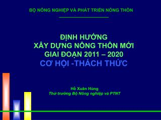 NH HUNG X Y DNG N NG TH N MI GIAI  ON 2011   2020 CO HI -TH CH THC
