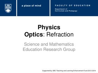 Physics Optics : Refraction