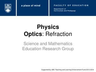Physics Optics : Refraction
