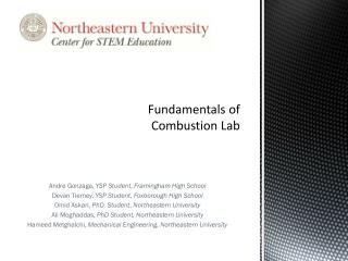 Fundamentals of Combustion Lab