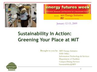 Sustainability In Action: Greening Your Place at MIT