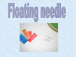 Floating needle