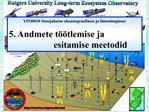YFO0010 Sissejuhatus okeanograafiasse ja limnoloogiasse  5. Andmete t  tlemise ja     esitamise meetodid