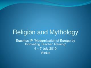 Religion and Mythology