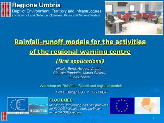 Regione Umbria Dept of Environment, Territory and Infrastructures  Division of Land Defence, Quarries, Mines and Mineral