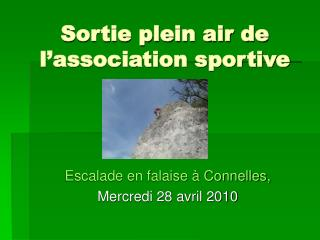 Sortie plein air de l'association sportive