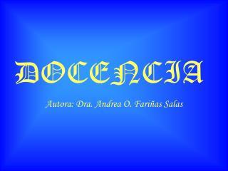 DOCENCIA