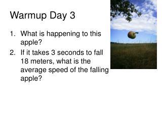 Warmup Day 3