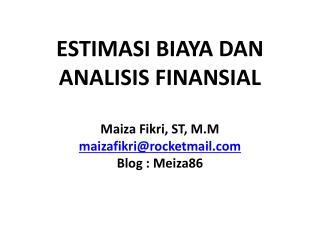 Investasi dan Analisis Finansial