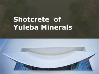 Shotcrete  of Yuleba Minerals