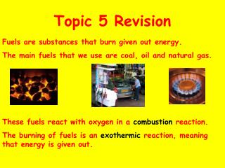 Topic 5 Revision
