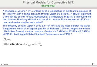 Physical Models for Convective M.T. Example (2)