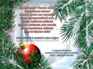 Поздравляю с Новым годом Уважаемых коллег! Унесет пусть все невзгоды Этот прошлогодний снег.